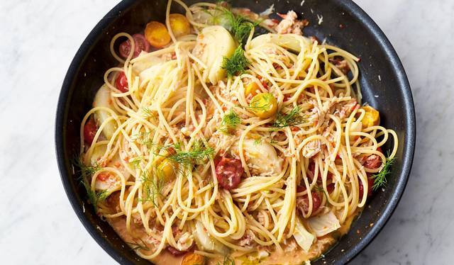 Jamie Olivers Crab And Fennel Spaghetti