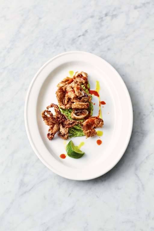 Crispy Squid and Smashed Avo