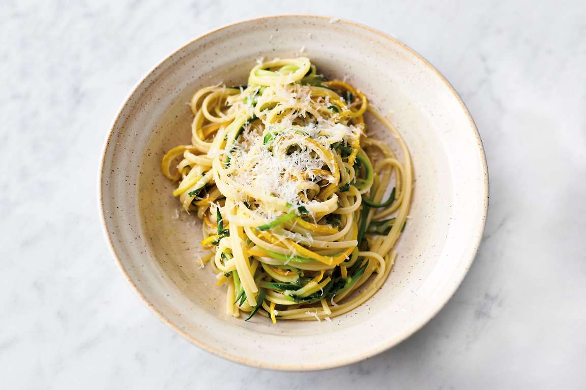 Lemon Courgette Linguine