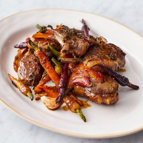 Jamie olivers sticky lamb chops warming and hearty this recipe for sticky lamb chops with carrots from the book of jamie olivers channel 4 series quick easy food makes a perfect forumfinder Images