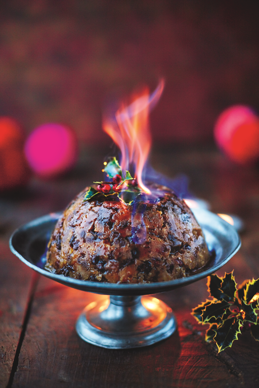 Christmas Pudding Dried Fruit, Pecans, Ginger, Rosemary, Bourbon and Golden Syrup