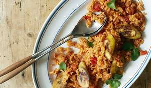 Jollof-inspired Rice Dish with Plantain | Rice Midweek Meal