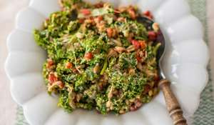 Kale, Sprouted Beans and Goji Salad