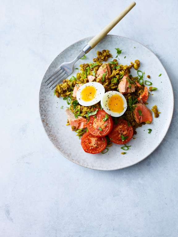 Kedgeree-style Salmon and Rice