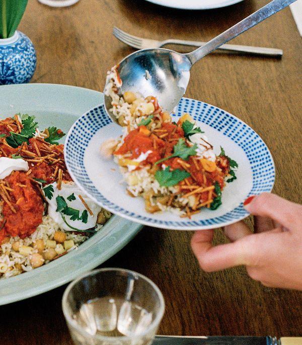 Easy Store Cupboard Recipes | Rice, Pasta, & Chickpea Koshari