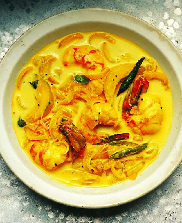 King Prawn and Pumpkin Curry (Konju Pulungari)