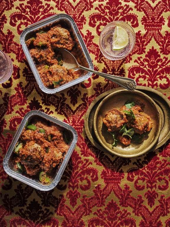 Chris Bavin's Lamb Jalfrezi Meatballs