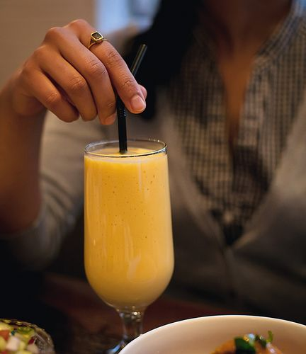 Mango Lassi from the Mother India Cookbook