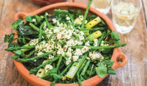 Young Leeks, Watercress & Asparagus with Tofu Gribiche from Peace and Parsnips