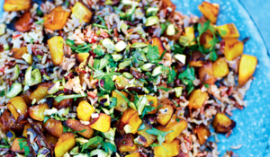 Wild, Red and Brown Rice Salad with Roasted Pumpkin from Grill It With Levi
