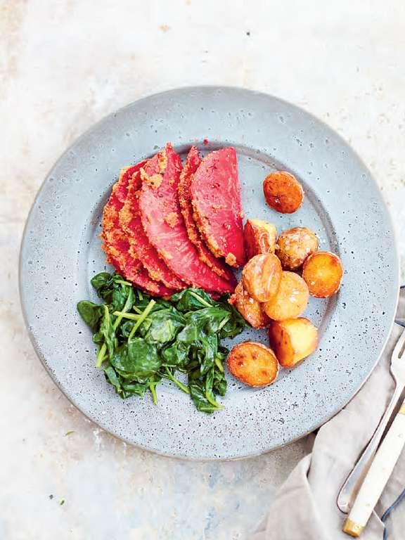 Celeriac Hasselback 'Ham' (Rotselleri 'Hasselback Style')