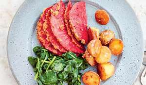 Rachel Khoo's Celeriac Hasselback 'Ham' Recipe | Vegetarian Christmas