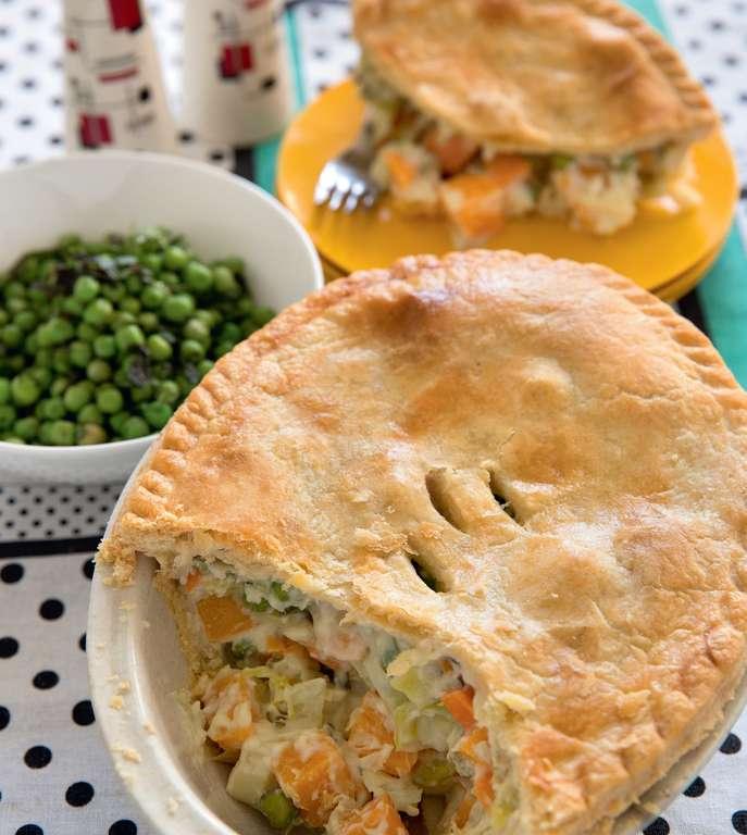 Butternut Squash and Leek Pie