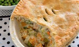 Butternut Squash and Leek Pie
