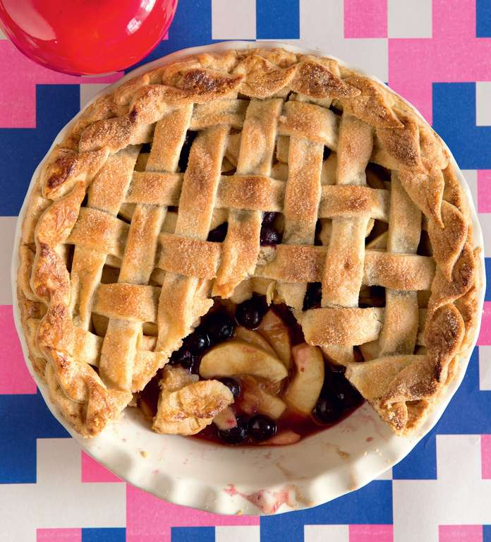 Apple Huckleberry 'Three Generations' Pie