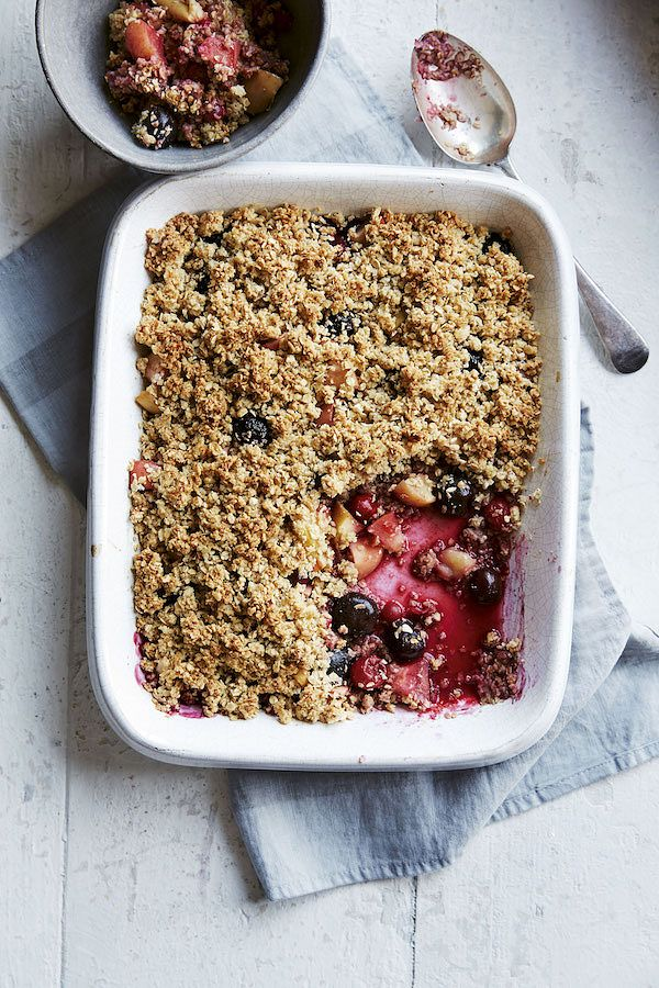 crumble recipes for autumn and winter berry and apple crumble save money lose weight dr ranj singh