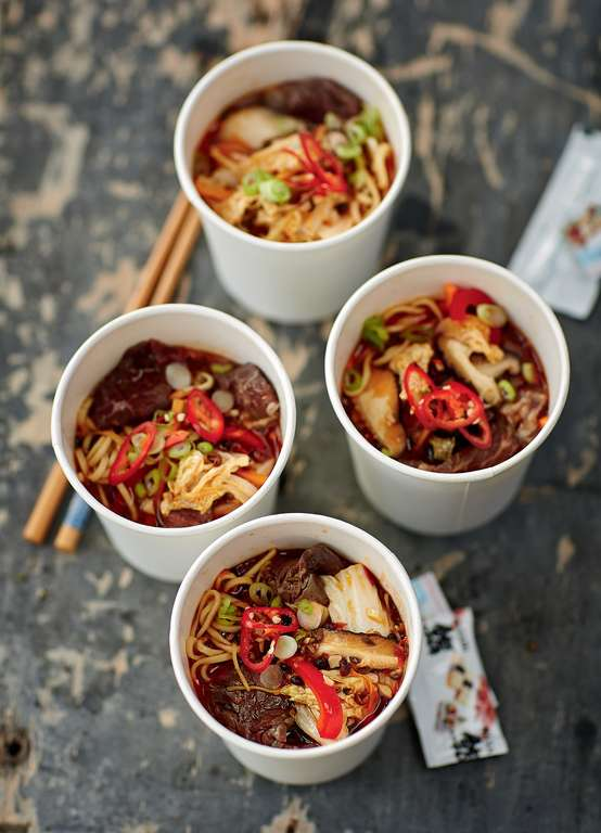 Spicy Beef Noodle Pot