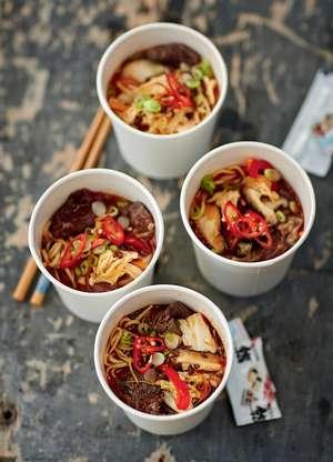 Spicy Beef Noodle Pot