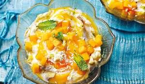 Mango, Rum and Lime Syllabub