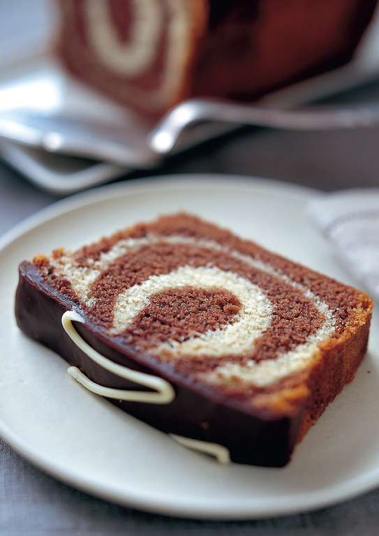 Chocolate and Vanilla Marble Loaf