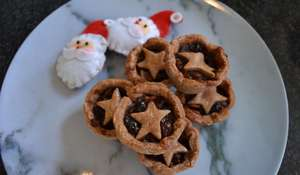 Easy Christmas Mince Pies with Chocolate Pastry