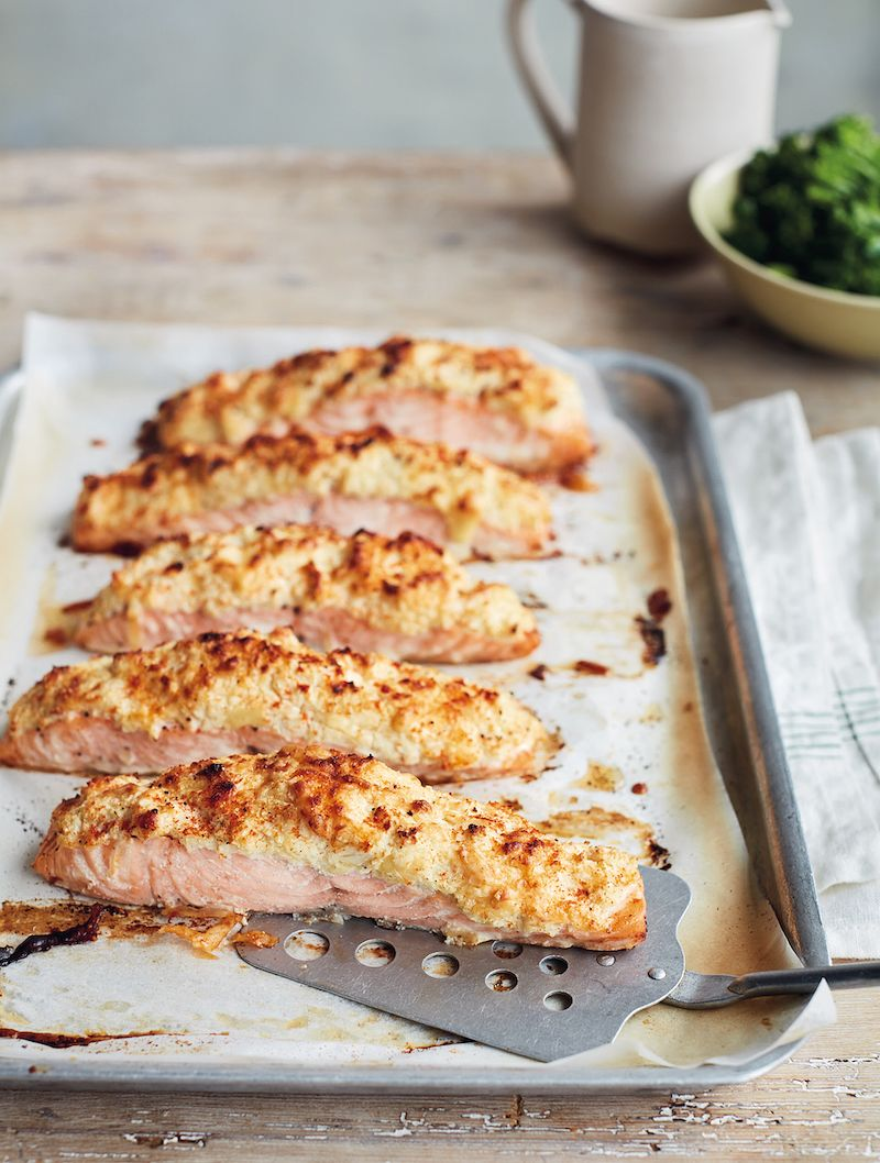 best mary berry salmon recipes simple comforts Salmon Fillets with Cauliflower Cheese Topping