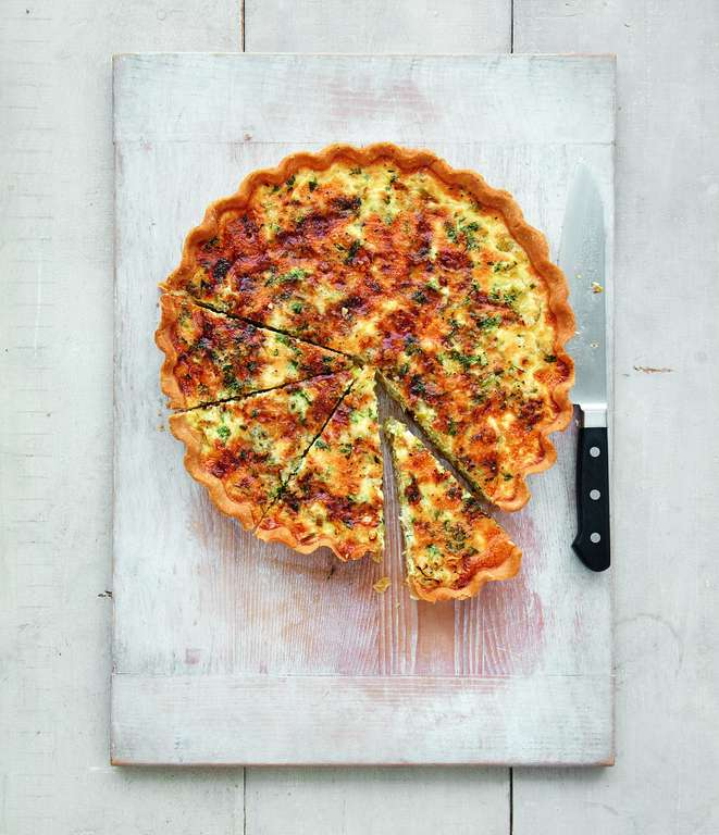 Mary Berry's Leek and Stilton Quiche