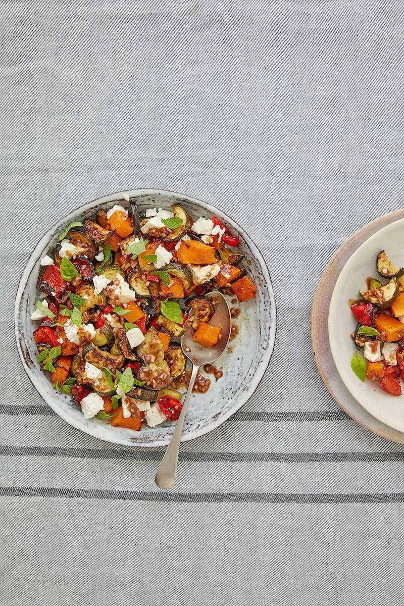 easy lunch recipes working from home roasted vegetables with feta and herbs mary berry classic