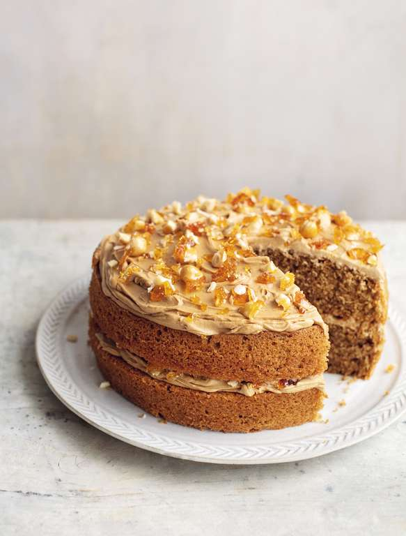 Mary Berry's Coffee and Hazelnut Praline Cake