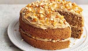 Mary Berry Coffee Hazelnut Praline Cake Recipe | BBC2 Simple Comforts