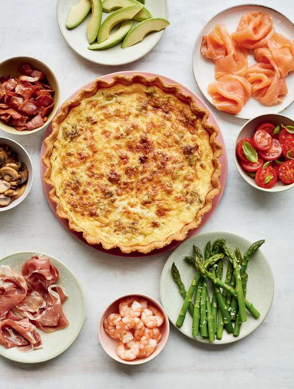 Mary Berry's Leek & Dill Quiche with a Choice of Toppings