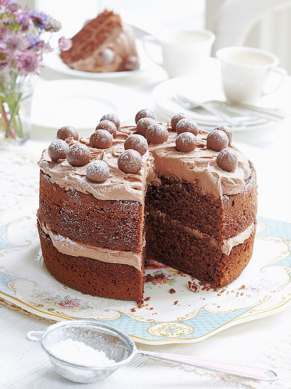 mary berry malteser chocolate cake easy baking recipe