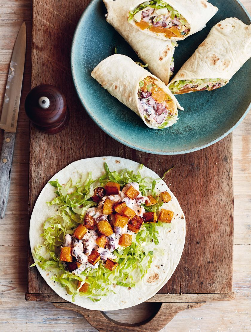 Mary Berry Mixed Bean and Butternut Wraps Simple Comforts BBC2