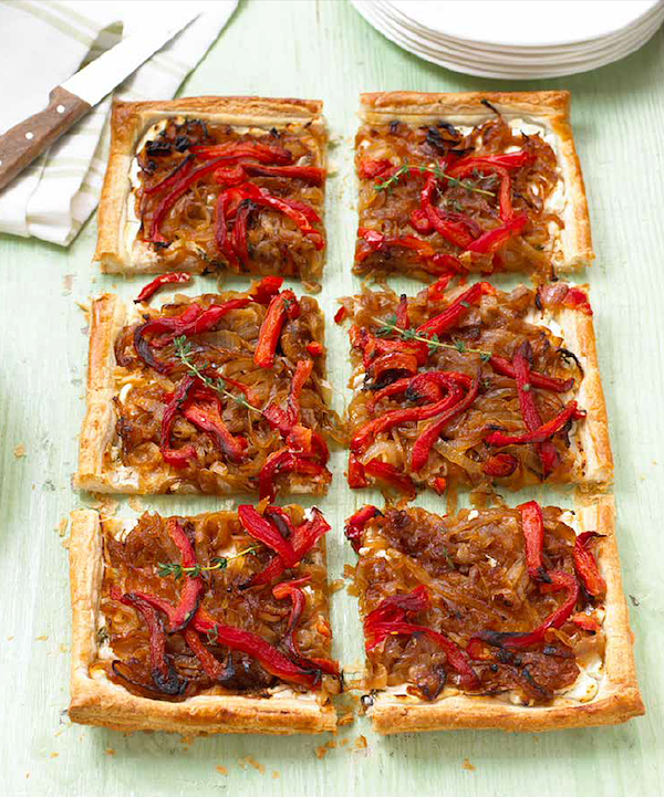 Christmas canapes recipes mary berry goats cheese red pepper tart cook up a feast
