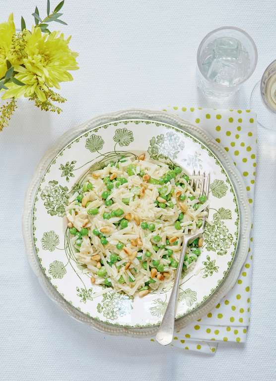 Mary Berry's Orzo with Broad Beans, Peas, Lemon, and Thyme