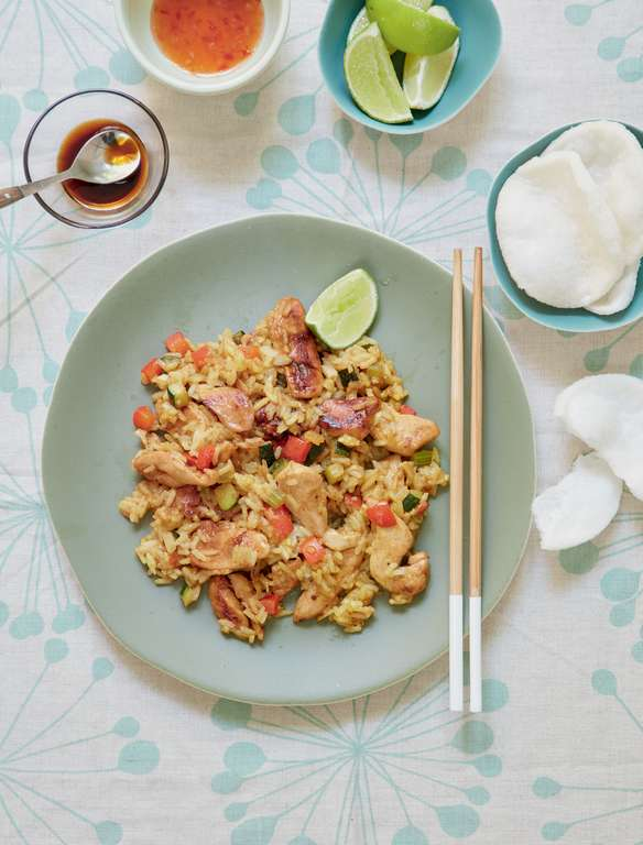 Mary Berry's Panang Chicken and Rice Stir-fry