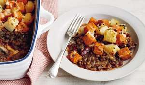 Mary Berry Potato and Lentil Vegetarian Bake | BBC2 Simple Comforts
