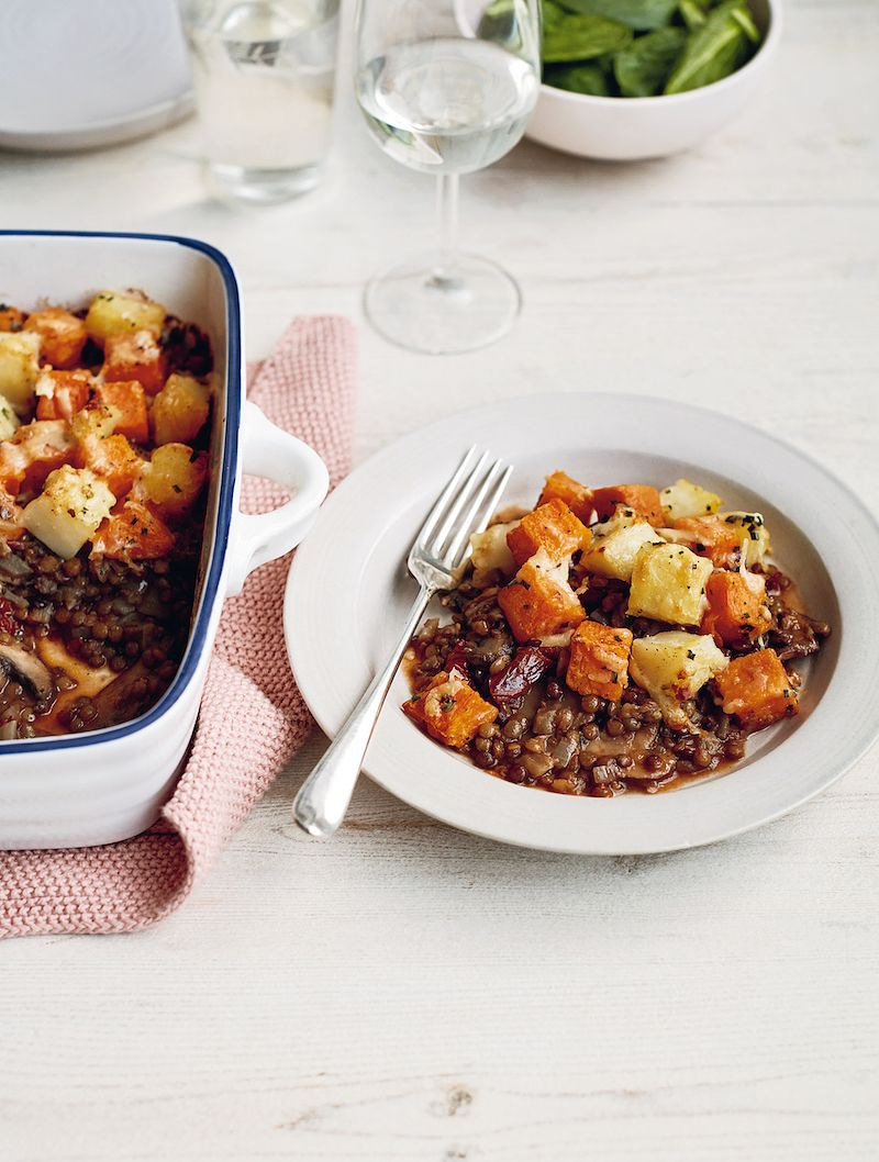 best mary berry winter recipes Mushroom, Lentil and Double Potato Jumblesimple comforts