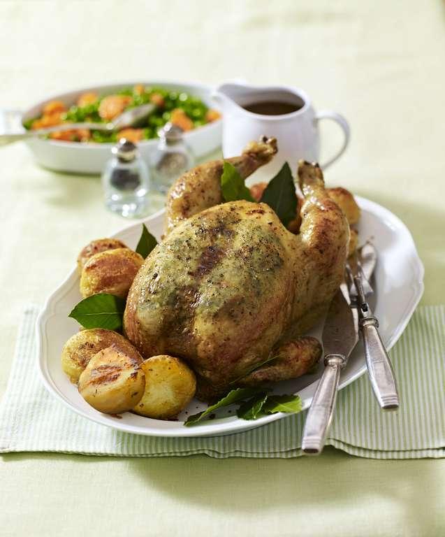 Roast Chicken with Tarragon Butter