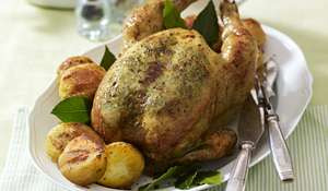 Roast Chicken with Tarragon Butter