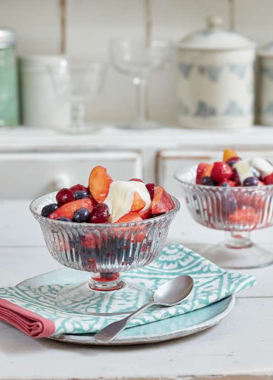 Mary Berry's Rosy Fruit Compote with Yoghurt and Honey