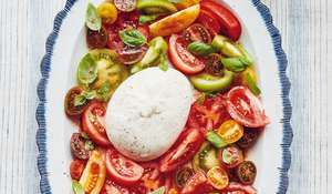 Mary Berry Burrata with Heritage Tomato Salad & Bloody Mary Dressing