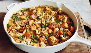 Mary Berry Paneer and Roasted Vegetable Curry