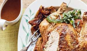 Mary Berry's Roast Chicken with Tarragon Butter & Melting Onions | BBC2 Simple Comforts