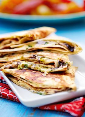 Mushroom and Cheese Quesadillas