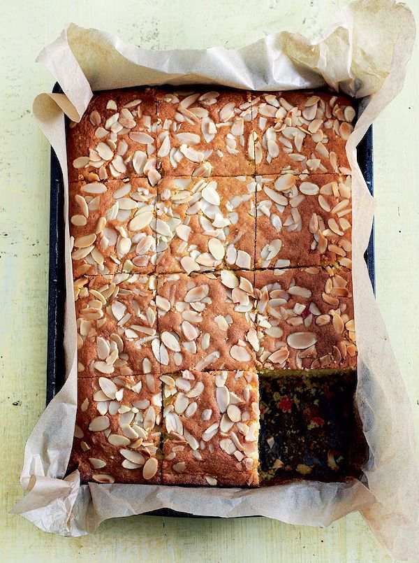 easy cherry cake recipes cherry and almond traybake mary berry baking bible