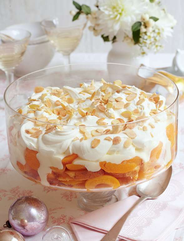 Cheat's Christmas Apricot Trifle