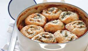Scrumpy Beef Casserole with Parsley & Horseradish Dumplings