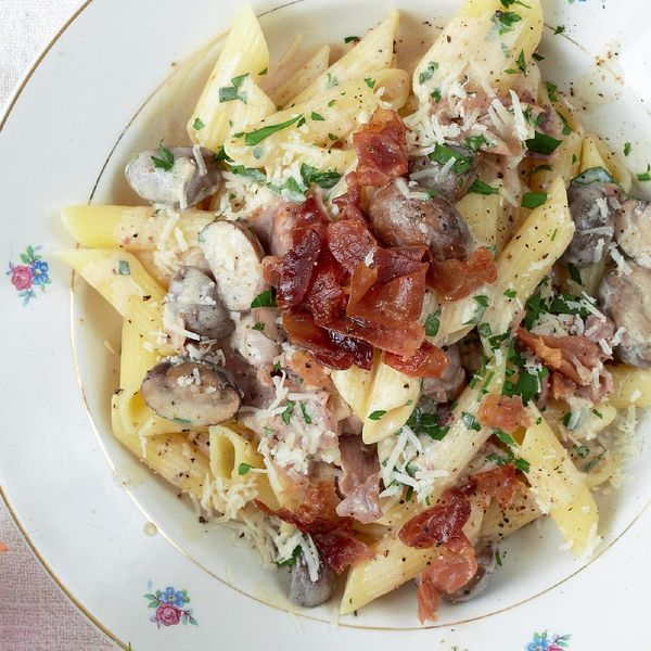 15 minute pasta the happy foodie a speedy pasta recipe for an evening meal this 15 minute pasta from mary berry features penne parma ham and parmesan serve with salad and crusty bread forumfinder Choice Image
