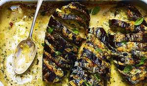 Cheese-Topped Baked Aubergines